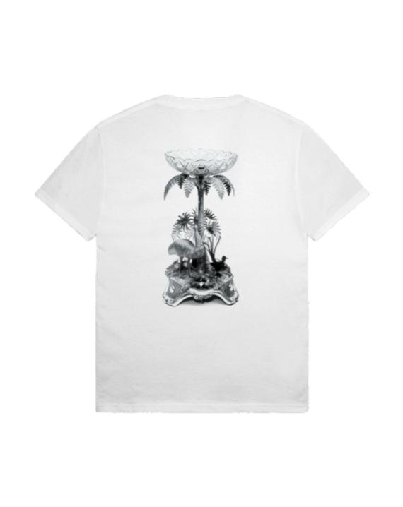 T-Shirt à manche courte en coton couleur blanc avec imprimé graphique à l'avant et à l'arrière