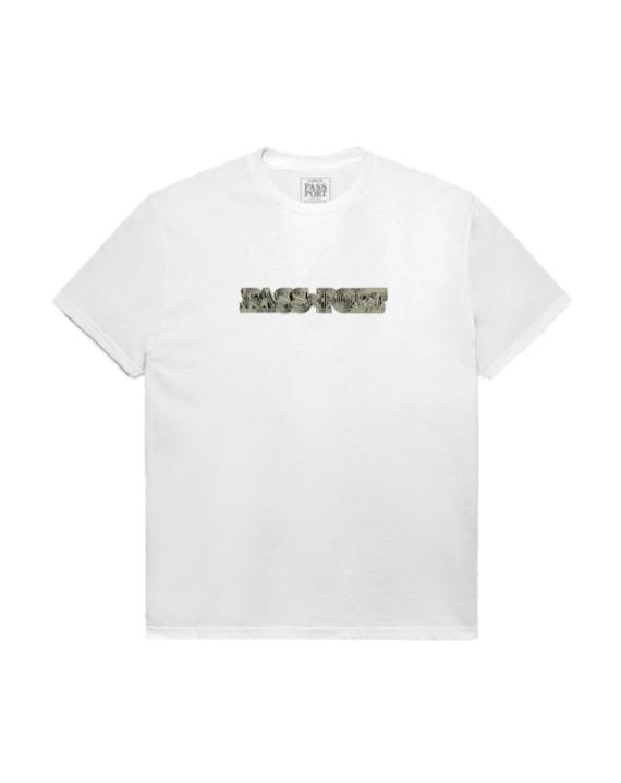 T-shirt manche courte en coton couleur blanc avec imprimé graphique sur l'avant et sur l'arrière