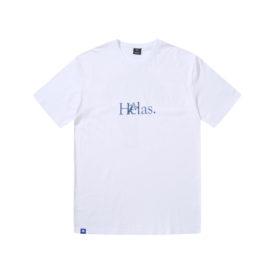 T-shirt hélas couleur blanc en coton avec imprimé graphique à l'avant et à l'arrière