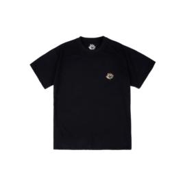 T-shirt noir en coton avec imprimé graphique à l'avant et à l'arrière
