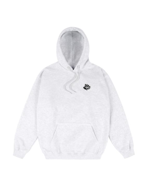 Pull à capuche en coton et polyester coupe normale couleur gris